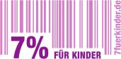 Die Initiative 7% für Kinder setzt sich dafür ein, dass auf Produkte und Dienstleistungen für Kinder nur noch die reduzierte Mehrwertsteuer von sieben Prozent erhoben wird.